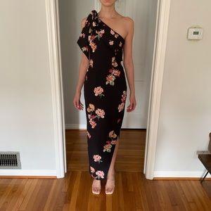 Keepsake floral one shoulder dress